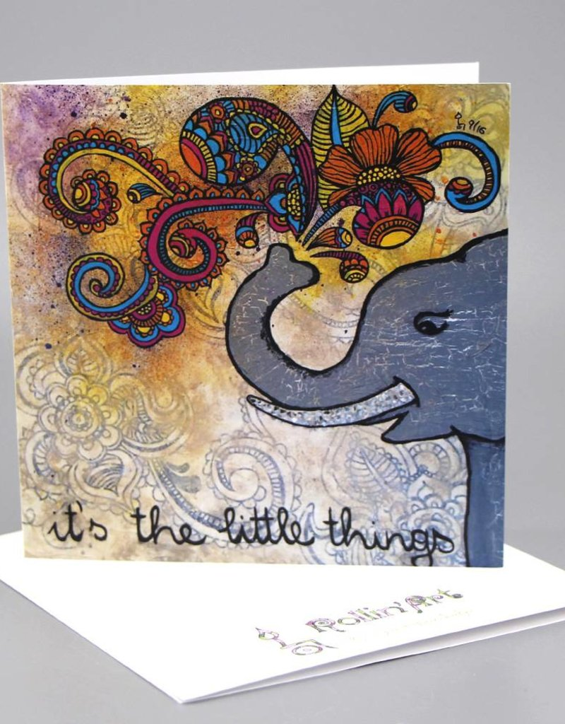 "Greeting card ""It's the little things"""