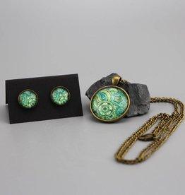"Jewellery Set ""Mehndi Muster grün"""