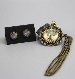 "Jewellery Set "" Lebensbaum"""
