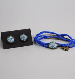 """Jewellery Set  """"Mehndi Muster dunkelblau"""""""