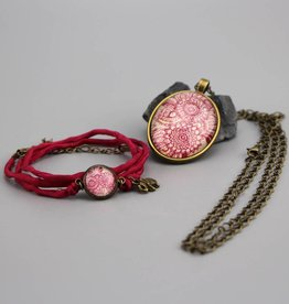 "Jewellery Set  ""Mehndi Muster magenta"""