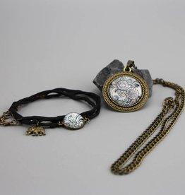 "Jewellery Set ""Mehndi Muster schwarz"""