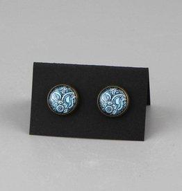 "Earrings  ""Mehndi Muster dunkelblau"""