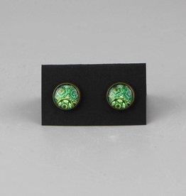 "Earrings  ""Mehndi Muster grün"""