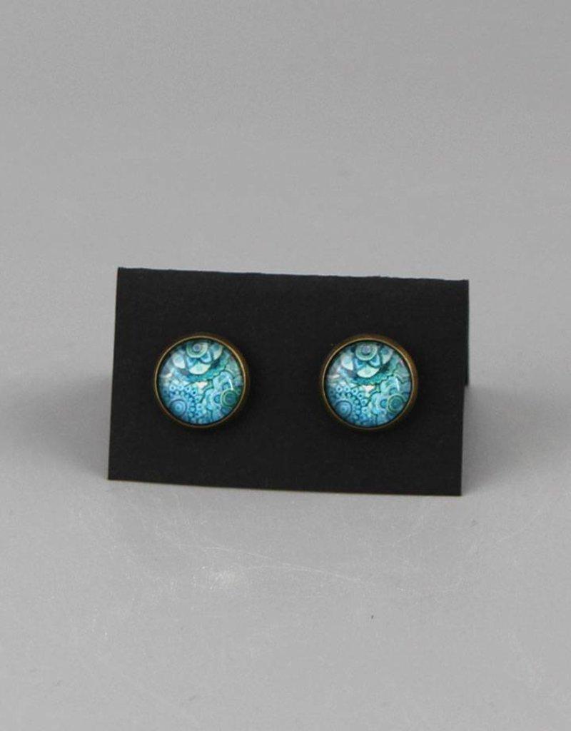 """Earrings  """"Mehndi Muster blau"""""""
