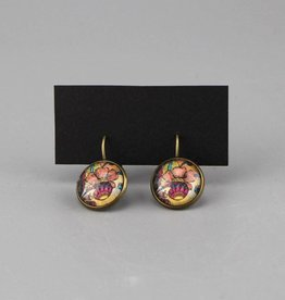 "Hanging earrings  ""Blume aprikot"""
