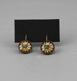 """Hanging earrings  """"Blume gelb"""""""