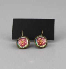 "Hanging earrings  ""Blume rot"""