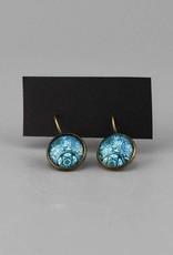 """Hanging earrings  """"Mehndi Muster blau"""""""