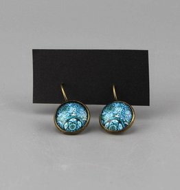 "Hanging earrings  ""Mehndi Muster blau"""