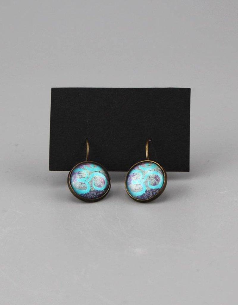 """Hanging earrings  """"Om in blau"""""""