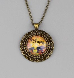 "Necklace  ""be happy"""