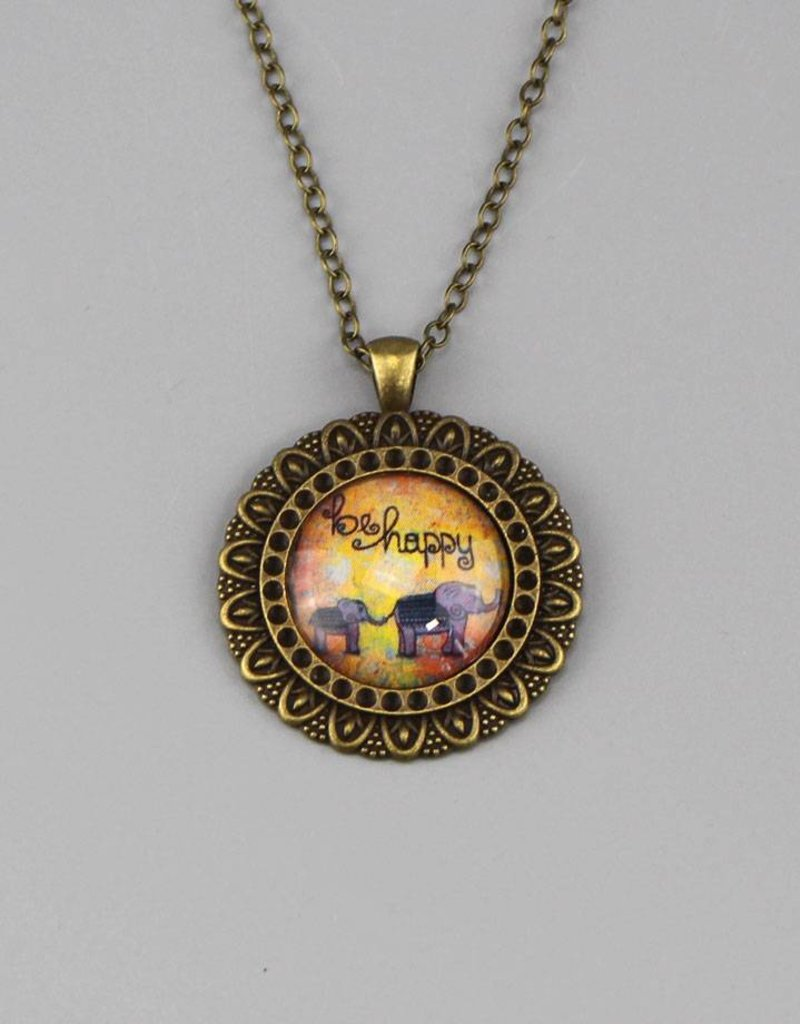 """Necklace  """"be happy"""""""