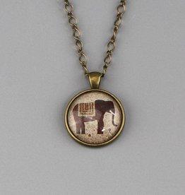 """Necklace  """"Elefant in braun"""""""