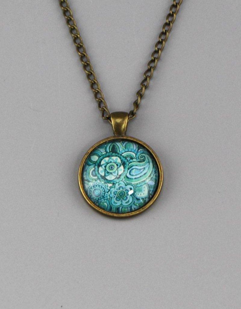 "Necklace  ""Mehndi Muster blau"""
