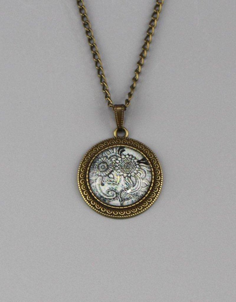 "Necklace  ""Mehndi Muster schwarz"""