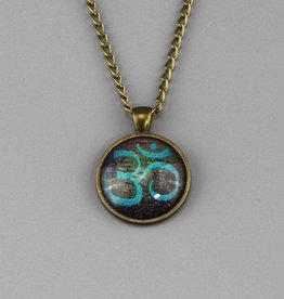 "Necklace  ""Om in blau"""