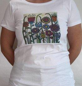Damen T-Shirt Blumenwiese