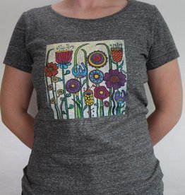 Damen T-Shirt Blumenwiese