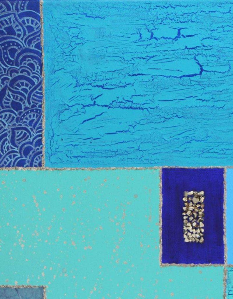 Originalbild Collage Blau