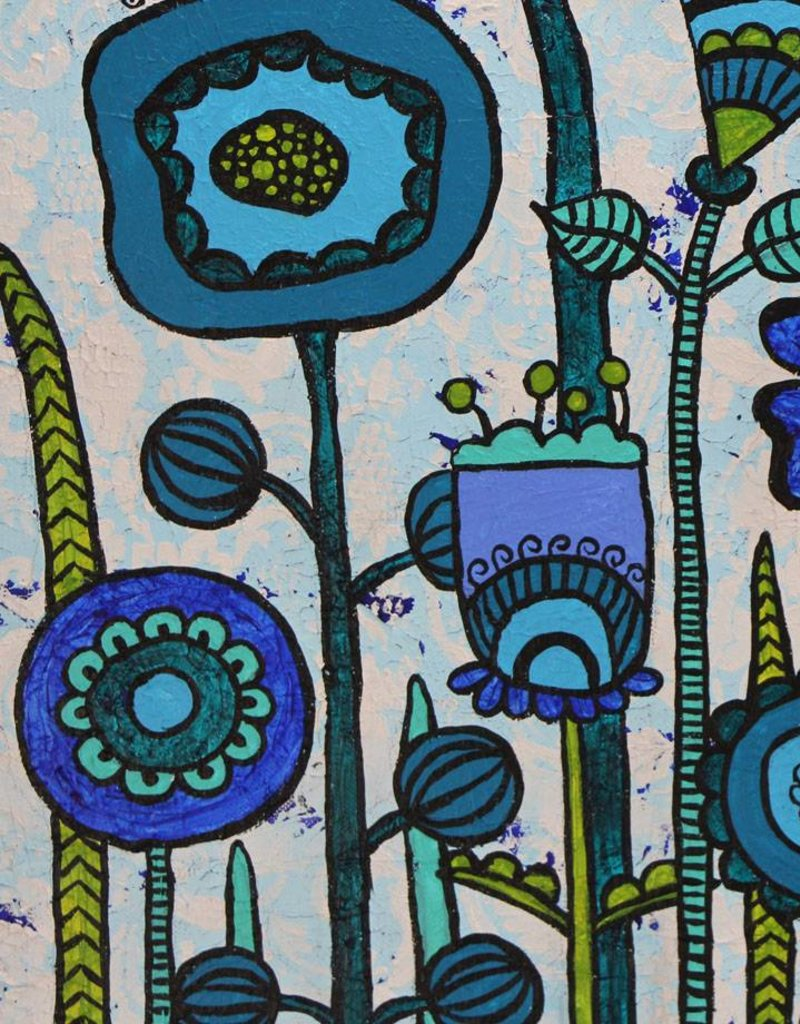 "Original Painting  ""Flowers Blue"""