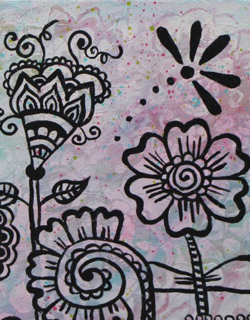 Originalbild Flowers Mehndi I