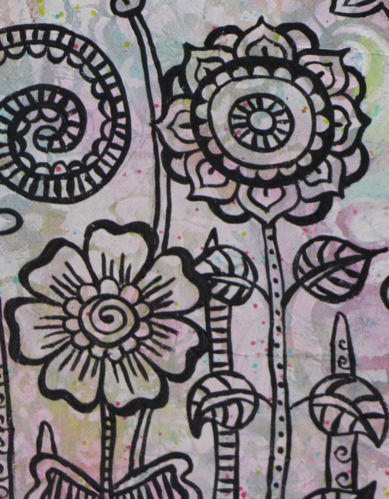 "Original Painting ""Flowers Mehndi II"""