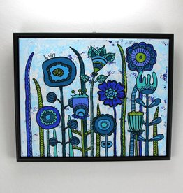"Original Painting  ""Flowers Blue"""