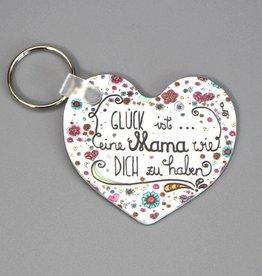 Schlüsselanhänger Glück ist... Mama