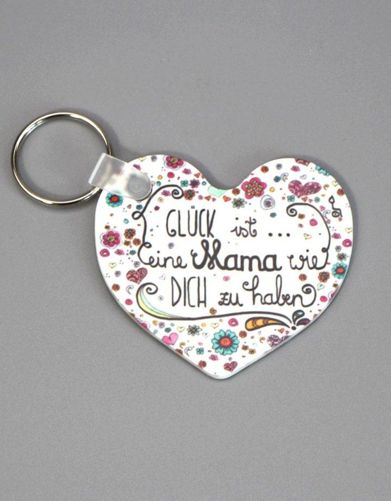 """Key chain """"Glück ist... Mama"""""""