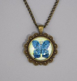 "Necklace ""Schmetterling blau"""