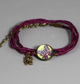 """Silk bracelet """"Schmetterling be yourself"""""""