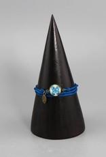 """Silk Bracelet """"Schmetterling blau"""""""