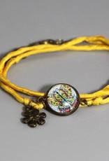 Armband aus Seide - Schmetterling bunt