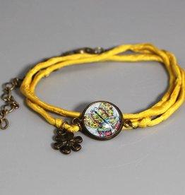 """Silk Bracelet """"Schmetterling bunt"""""""