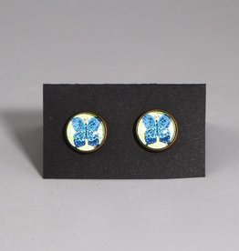 Ohrstecker Schmetterling blau