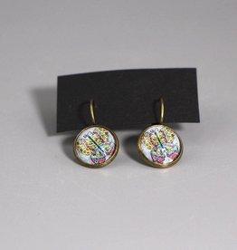 """Hanging earrings """"Schmetterling bunt"""""""