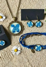 "Earrings ""Schmetterling blau"""