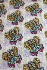 Baumwollstoff Schmetterling bunt