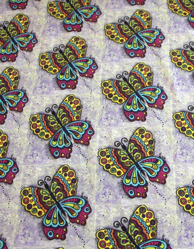 "Cotton cloth ""Schmetterling bunt"""