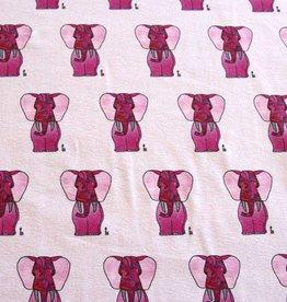 Baumwollstoff Elefant rosa