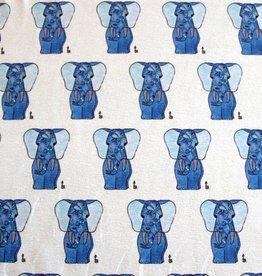 "Cotton cloth ""Elefant blau"""