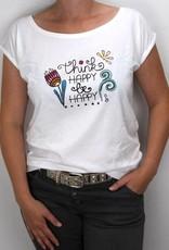 Damen T-Shirt Think happy