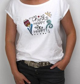 Damen T-Shirt Think happy