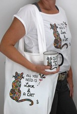 "T-Shirt for women ""All you need is... cat"""