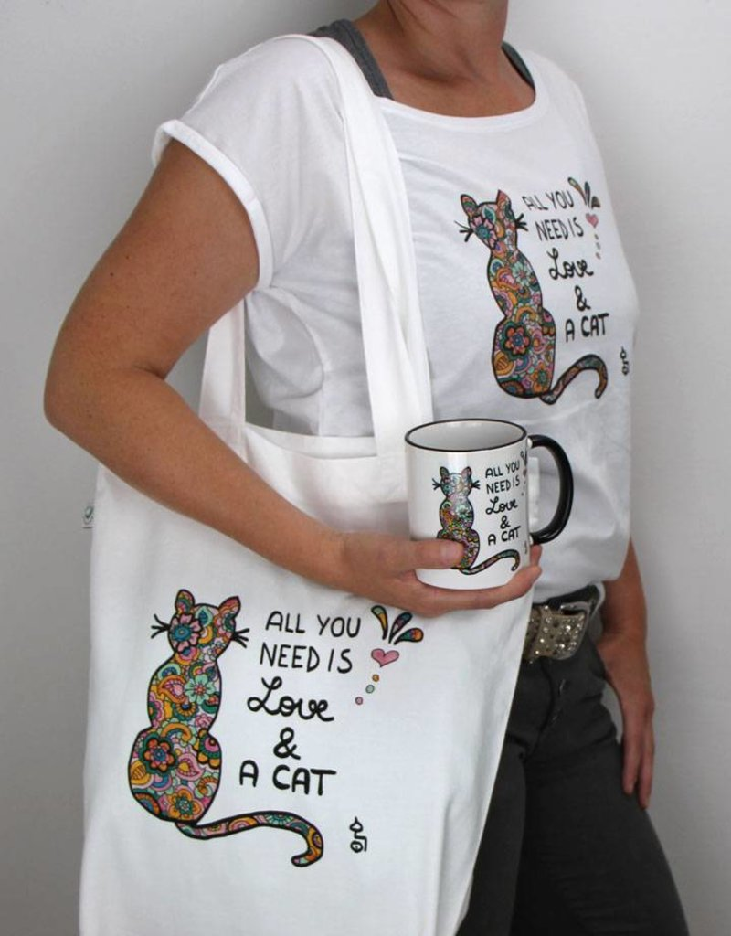 Damen T-Shirt All you need is... cat
