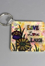 "Key chain ""Live Love Laugh"""