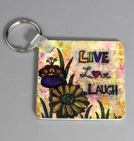 "Key chain ""Live Love Laugh"""