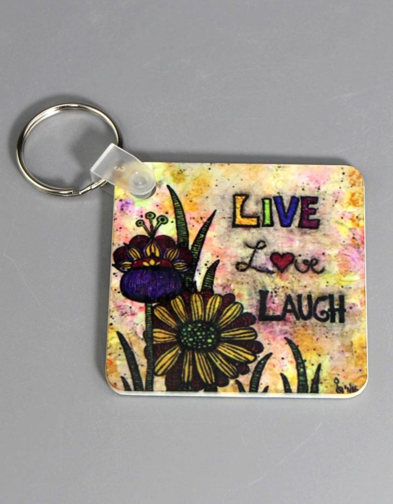 Schlüsselanhänger Live Love Laugh