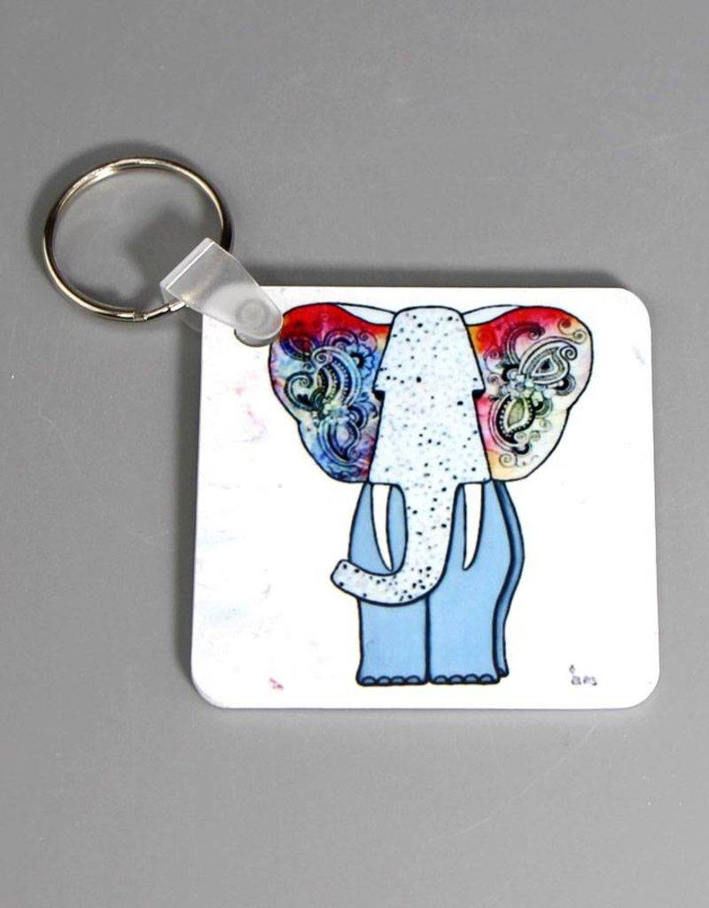 Schlüsselanhänger Hippiefant